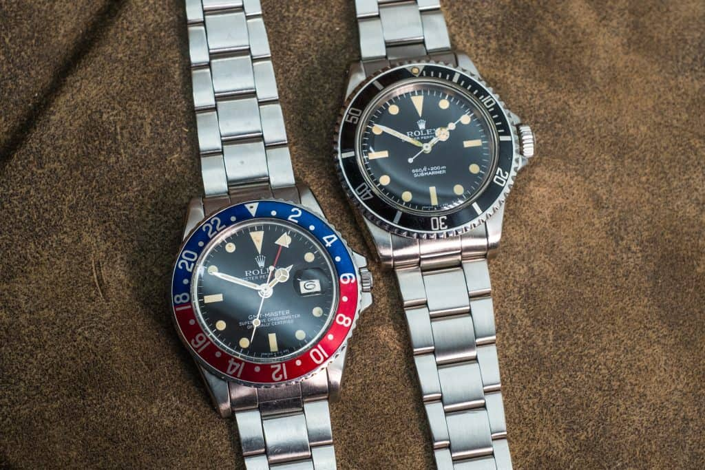 collecting vintage watches rolex 5513 submariner 1675 gmt master